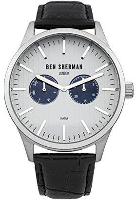 Ben Sherman (ベン シャーマン) - Ben Sherman wb024sメンズSpitalfields Socialブラックレザーストラップウォッチ