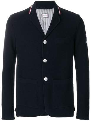 Moncler striped collar cardigan