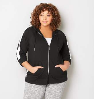 Avenue Crochet Inset French Terry Hoodie