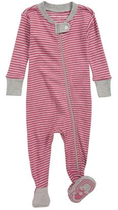Burt's Bees Baby Stripe Fitted Footed One-Piece Pajamas