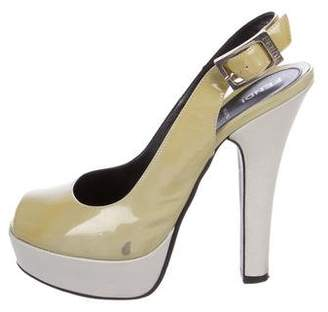 Fendi Patent Leather Platform Pumps