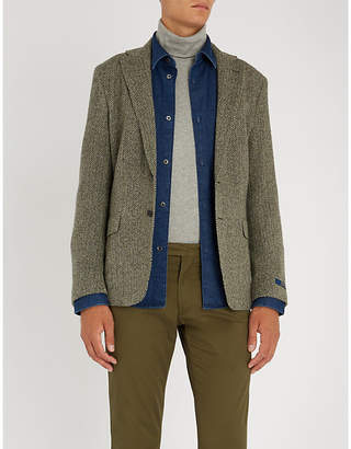 Polo Ralph Lauren Herringbone-pattern wool-blend jacket