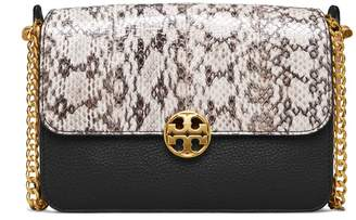 Tory Burch CHELSEA COLOR-BLOCK SNAKE CROSS-BODY