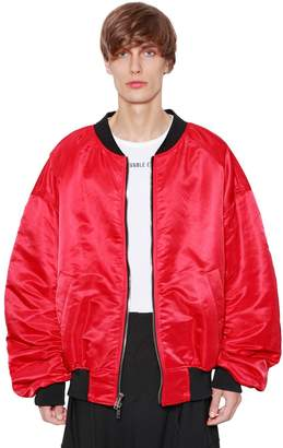 Juun.J Reversible Nylon Bomber Jacket