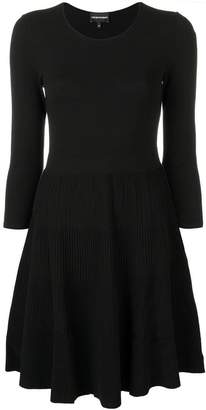 Emporio Armani flared fitted dress