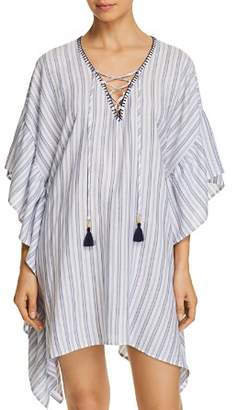Tommy Bahama Ticking Stripe Tunic Swim Cover-Up