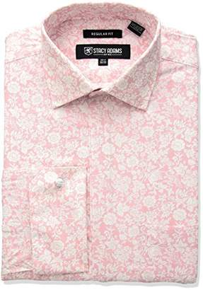 Stacy Adams Men's Roses Classic Fit Dress Shirt