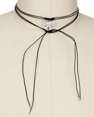 Saachi Bow Tie Wrap 40In Choker Necklace