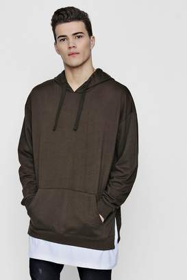 boohoo Oversized Hoodie With Faux Layer