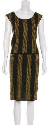 Prada Wool Knit Skirt Set