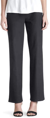 Eileen Fisher Washable-Crepe Straight-Leg Pants, Plus Size