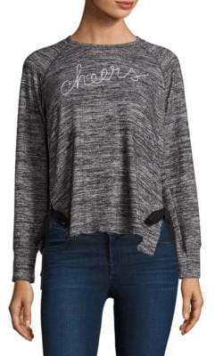 Sundry Cheers Lace-Up Pullover