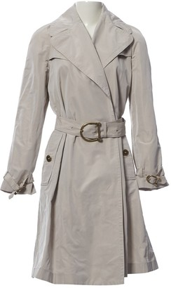 Burberry Grey Polyester Trench coats