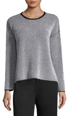 Eileen Fisher Two-Tone Merino Wool Sweater