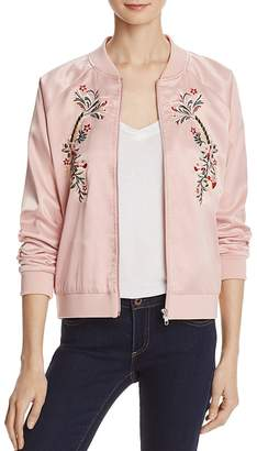 AQUA Embroidered Bomber Jacket - 100% Exclusive $98 thestylecure.com