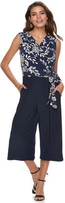 53b8534e7a09 Women s Nina Leonard Print Wide-Leg Capri Jumpsuit