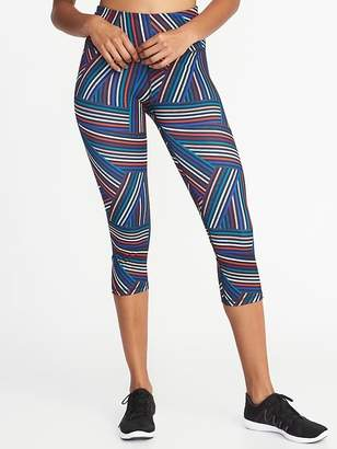 Old Navy High-Rise Striped Compression Crops for Women