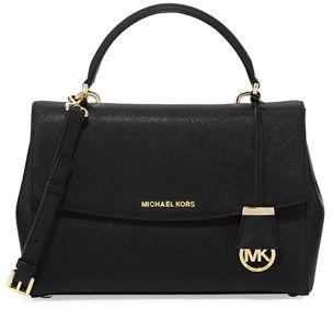 MICHAEL Michael Kors Ava Medium Saffiano Satchel Bag $298 thestylecure.com