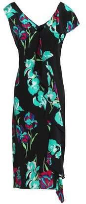 Diane von Furstenberg Ruffled Floral-Print Silk Crepe De Chine Dress
