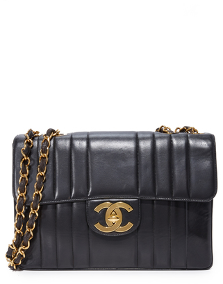 What Goes Around Comes Around Chanel Vertical Quilted Jumbo Bag (Previously Owned)