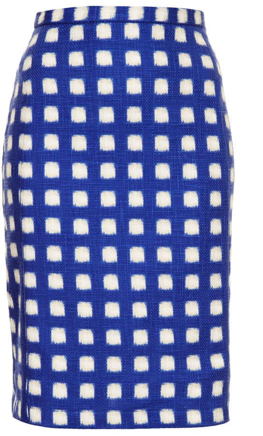Topshop Blurry check pencil skirt