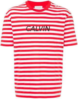 CK Calvin Klein striped logo T-shirt