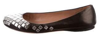 Alaia Round-Toe Leather Flats