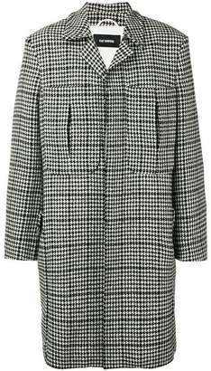 Raf Simons houndstooth coat