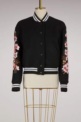 Off-White Off White Diag Cherry Wool Bomber Jacket