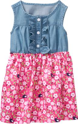 Gymboree Floral Denim Dress