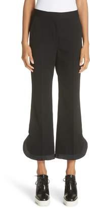 Stella McCartney Pleated Hem Crop Pants