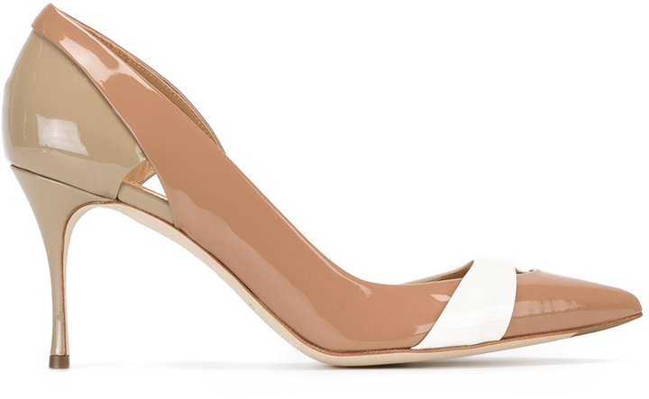 Sergio Rossi cut-out detail pointed pumps