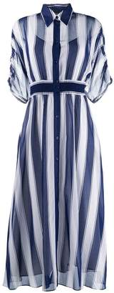 Sportmax Code long striped shirt dress