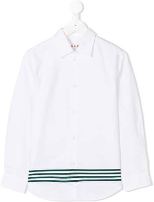 Marni striped hem shirt