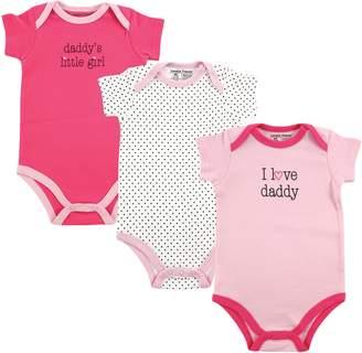 Luvable Friends Baby Girls' Bodysuit 3pk