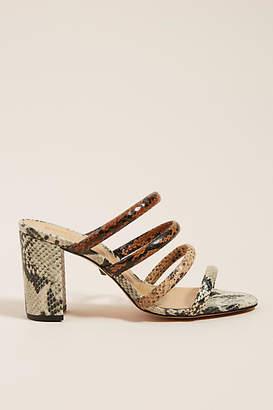 Schutz Snake-Printed Heeled Sandals