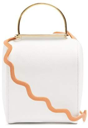 Roksanda Besa Top Handle Leather Shoulder Bag - Womens - White Multi