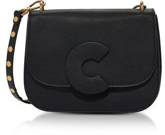 Coccinelle Craquante Rock Medium Shoulder Bag w/Studded Shoulder Strap
