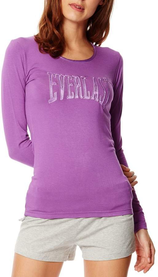 Langärmeliges T-Shirt - blasslila