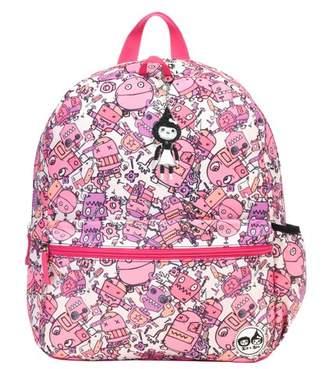 Babymel Zip & Zoe Junior Kids' Backpack - Robots Pink