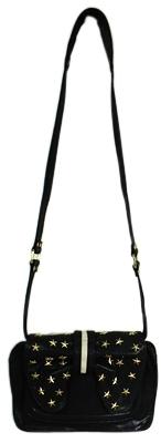 7Chi - Women's Black Star Hobo Bag