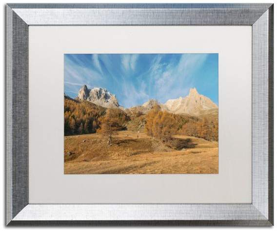 Trademark Fine Art Mathieu Rivrin 'Autumn Is Coming' Matted Framed Art, Silver Frame, White