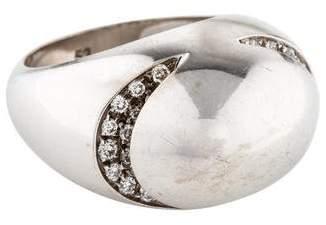 Bvlgari 18K Diamond Dome Ring