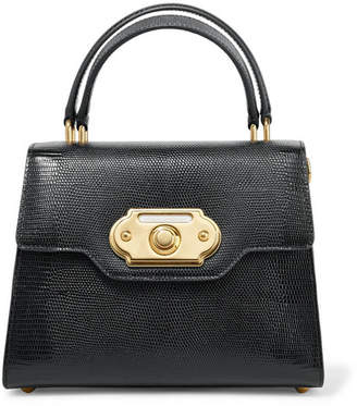 Dolce   Gabbana Welcome Medium Lizard-effect Leather Tote - Black 33f039af3790c