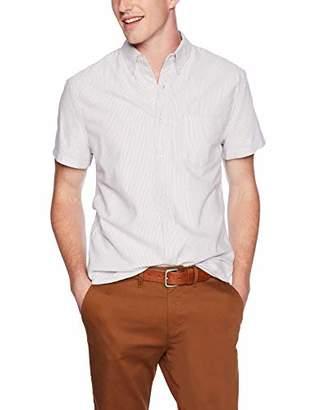 J.Crew Mercantile Men's Slim-Fit Short-Sleeve Stripe Oxford Shirt
