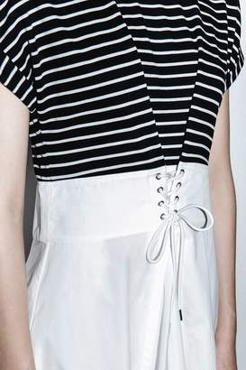 3.1 Phillip Lim Striped Top Corseted-Waist Dress