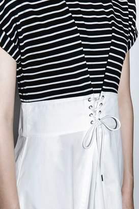 3.1 Phillip Lim Striped Top Corseted-Waist Dress