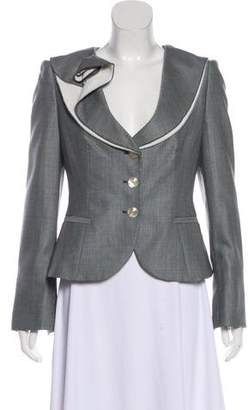 Armani Collezioni Wool Button-Up Blazer
