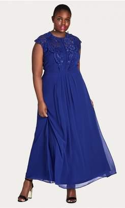 City Chic Lace Bodice Maxi Dress - Lagoon