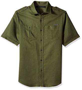 Sean John Men's Short Sleeve Linen Shirt